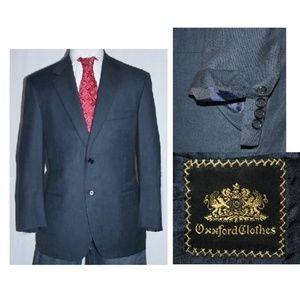 Blue Bespoke 110's Working Cuffs Jacket Blazer